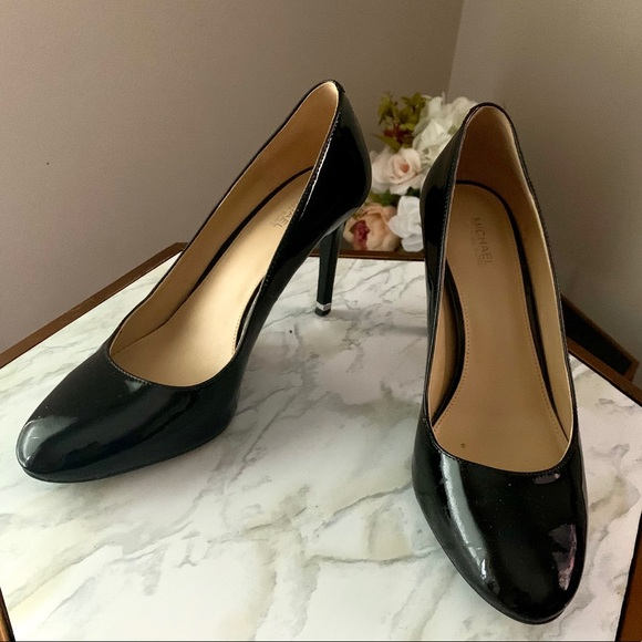 Michael Kors 'Ashby Almond Toe Pump Patent Leather